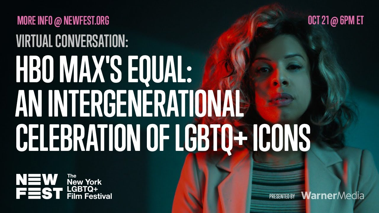 Poster from the NEW FEST on the panel A Virtual Conversation: An Intergenerational Celebration of LGBTQ+ Icons