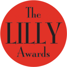 The red & white logo of the LILY Awards Foundation.