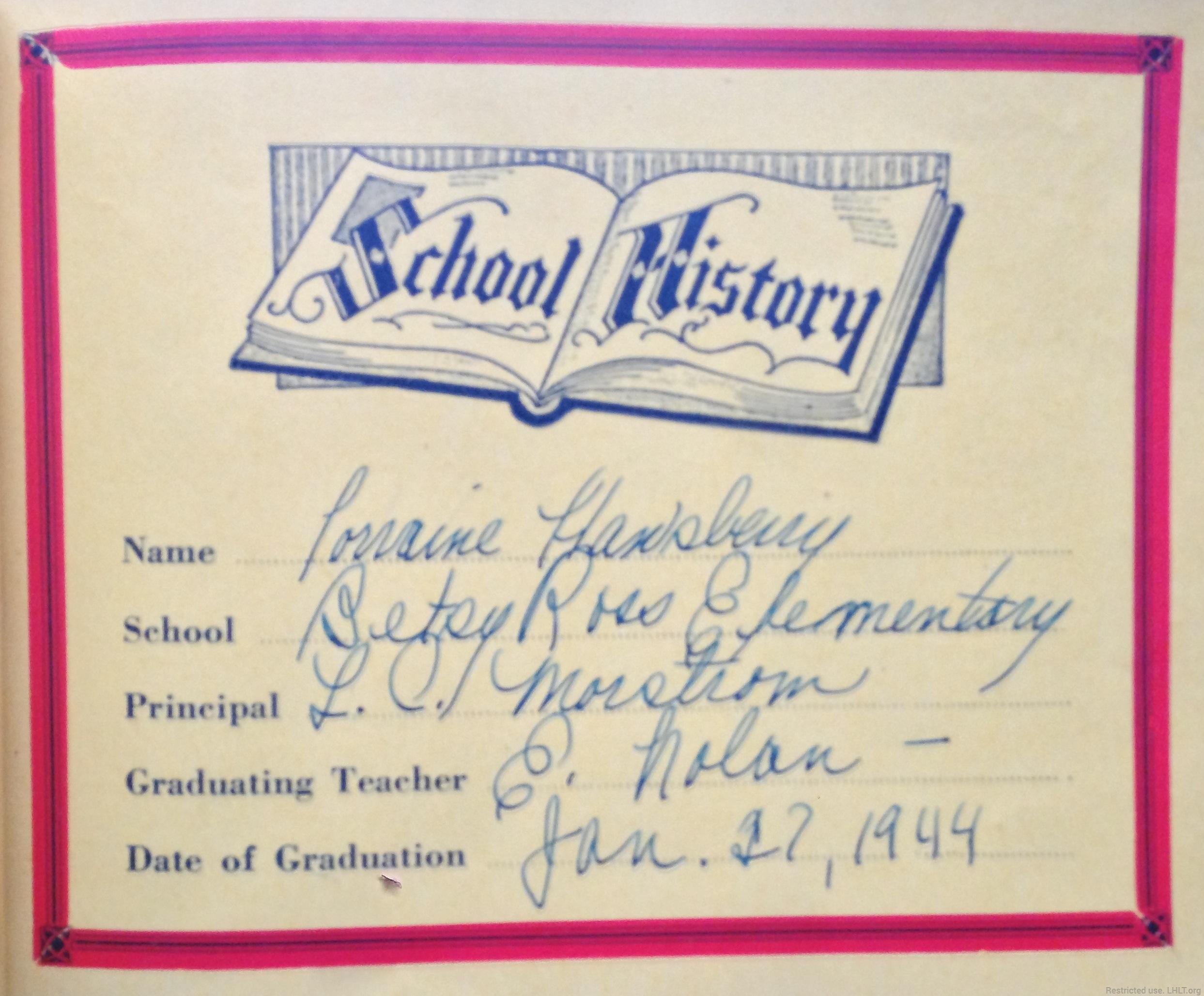 grade school autograph book lorraine hansberry literary trust